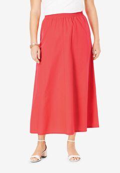 Linen Maxi Skirt, SOFT GERANIUM