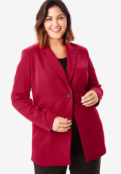 Bi-Stretch Blazer, CLASSIC RED