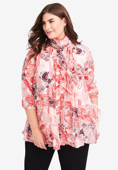 Scarf Pleat Blouse,
