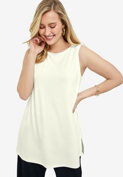 Travel Knit Tunic, IVORY