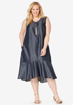 Tencel® Flounce Dress,