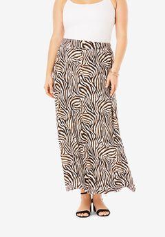 Everyday Knit Maxi Skirt, WATERCOLOR ZEBRA