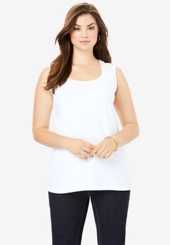 Horseshoe Neck Tank, WHITE