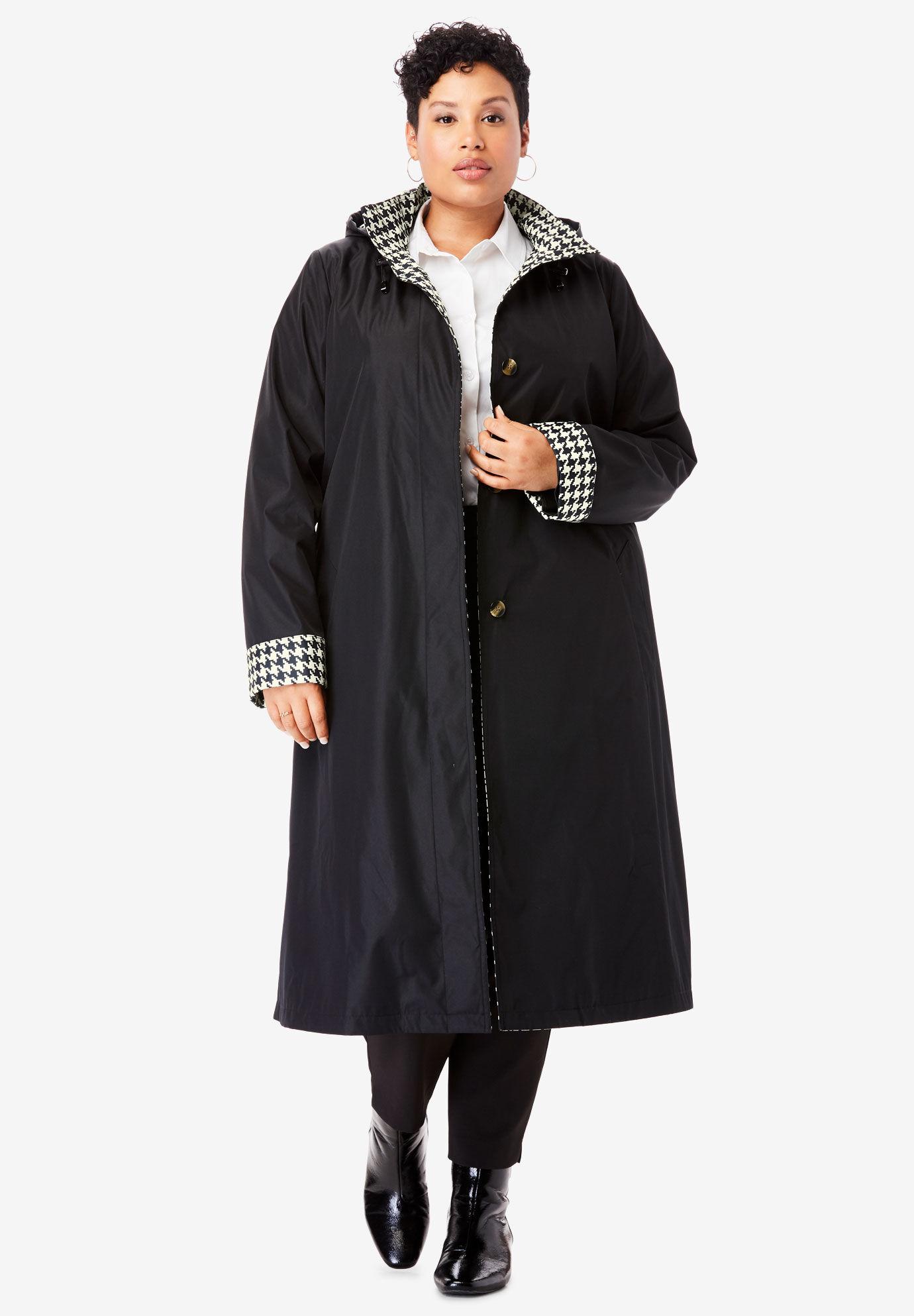 Jessica London Womens Plus Size Tencel Open Trench Coat