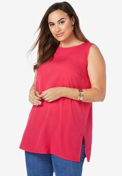 Relaxed Tunic Tank, PINK BURST