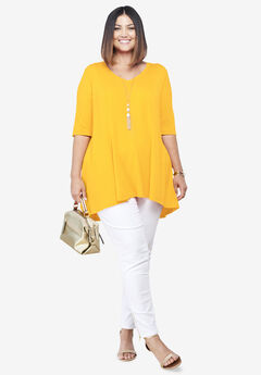 Fit & Flare Tunic, SUNSHINE YELLOW