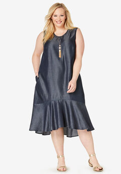 Tencel® Flounce Dress,