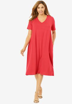 Crossback Swing Dress, SOFT GERANIUM