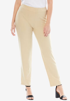 Comfortable Refined Crepe Pants,