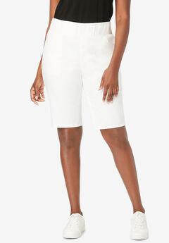 Comfort Waist Short, WHITE