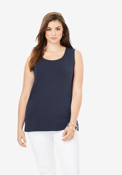 Horseshoe Neck Tank, NAVY