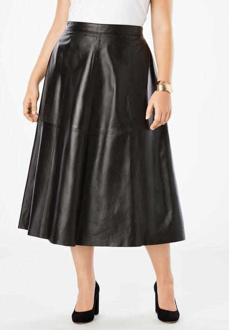 04a73a3d546 Leather Midi Skirt