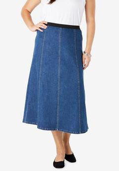 Jegging Skirt, MEDIUM STONEWASH