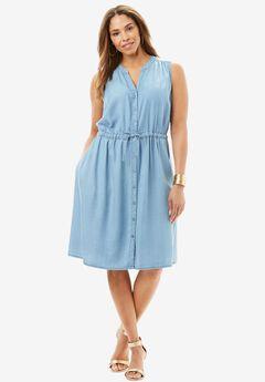 Sleeveless Tencel® Dress,