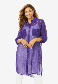 Mega Tunic, MIDNIGHT VIOLET DOT