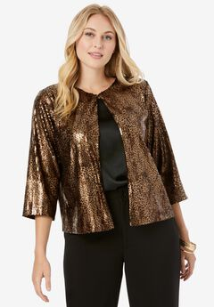 Sequin Jacket, ANIMAL SEQUIN