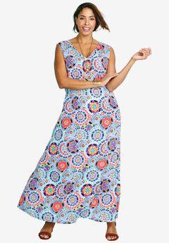 Printed Tank Maxi Dress,
