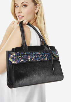 Sequin Trim Bag,