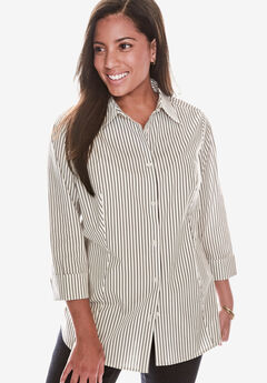Poplin Shirt, MIDNIGHT BERRY STRIPE