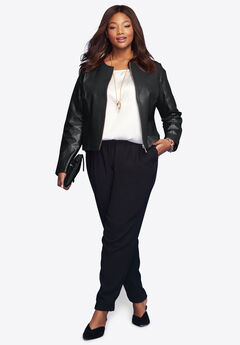 super popular cute cheap outlet on sale Plus Size Leather Jackets & Coats for Women | Jessica London