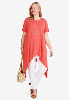 Side Point Tunic, SUNSET CORAL