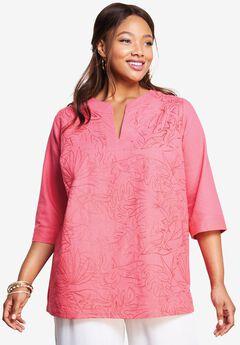 Linen V-Neck Shirt,