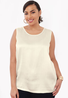 Sleeveless Satin Shell,