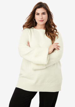 Faux Fur-Trim Sweater,