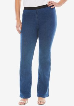 Bootcut Stretch Denim Jeggings,