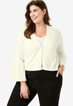 Bell Sleeve Sweater Shrug, IVORY