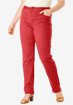True Fit Straight Leg Jeans, PEPPER RED