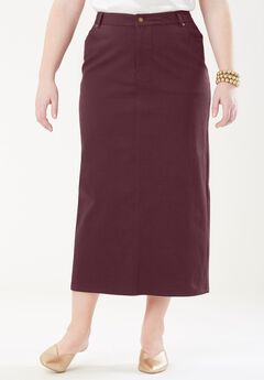 True Fit Denim Maxi Skirt,