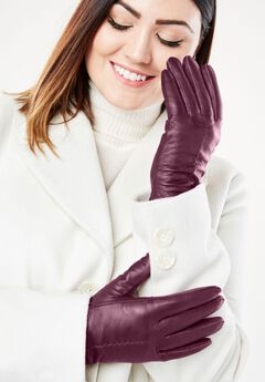 Leather Gloves, DEEP MERLOT