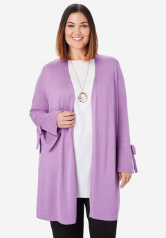 Bell Sleeve Cardigan Sweater, AMETHYST