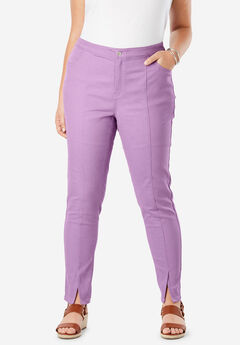 Front Seam Ankle Jean, AMETHYST