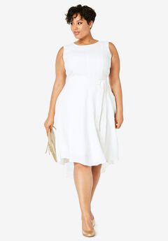 Tie-Waist Fit-And-Flare Dress,