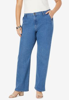 True Fit Wide Leg Jeans, MEDIUM STONEWASH