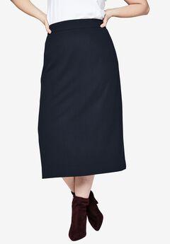 Wool Midi Skirt,