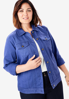 Classic Cotton Denim Jacket, ULTRA BLUE