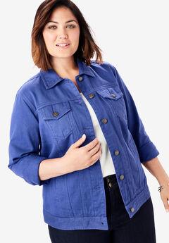 Classic Cotton Denim Jacket, ULTRA BLUE