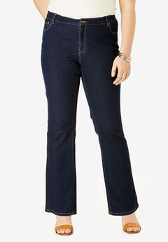 True Fit Straight Leg Jeans, INDIGO