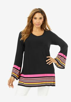 Travel Knit Border Tunic,