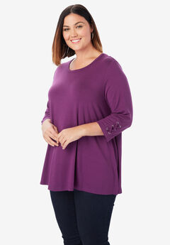 Lace-up Sleeve Tunic,