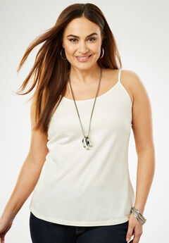 Cami Top with Adjustable Straps, IVORY
