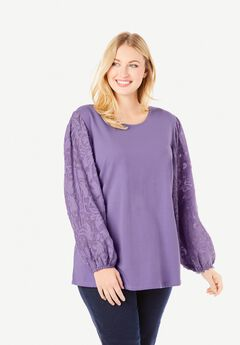 Burnout Sleeve Tunic,