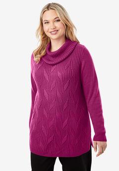 Cashmere Cowl Neck Sweater,