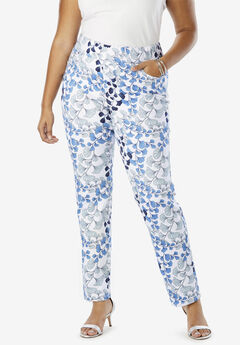 Comfort Waistband Jeans, WHITE LEAF