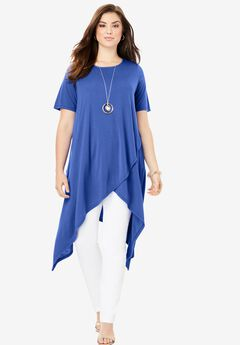 Side Point Tunic, TRUE BLUE