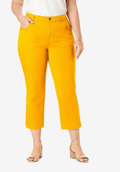 Classic Denim Capri, SUNSET YELLOW