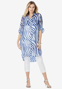 Mega Tunic, TWILIGHT BLUE ZEBRA
